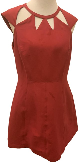 Item - Dark Pink Cotton No Mid-length Cocktail Dress Size 10 (M)