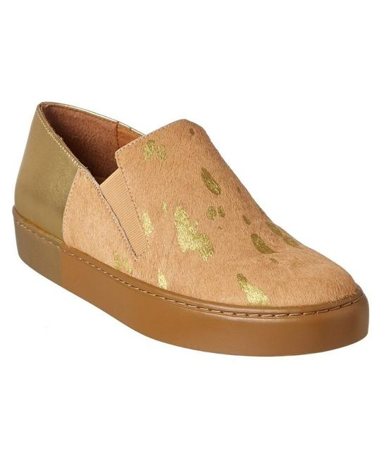 Item - Gold Calf Hair Varsity Slip On Sneaker Slip On Flats Size EU 36 (Approx. US 6) Regular (M, B)