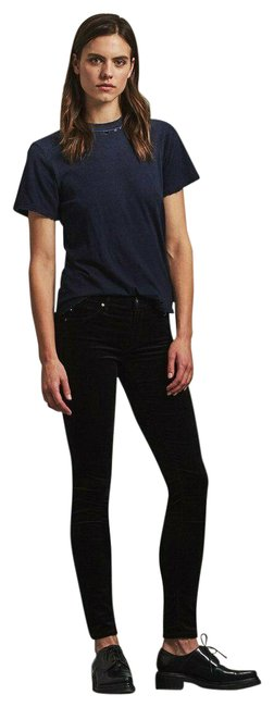 Item - Black Dark Rinse Low Skinny In Plush Corduroy Jeggings Size 28 (4, S)