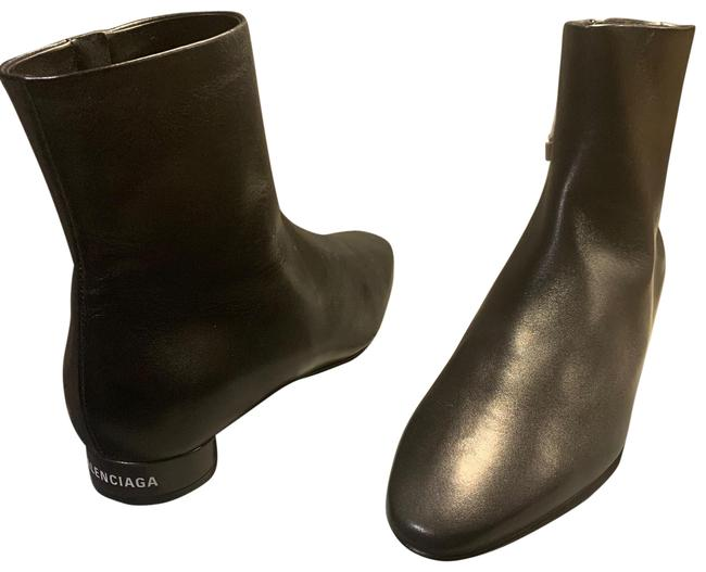 Item - Black Oval Leather Boots/Booties Size EU 38 (Approx. US 8) Regular (M, B)