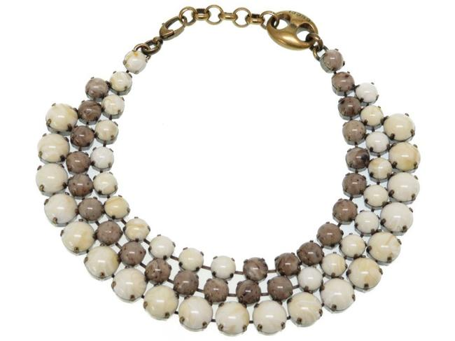 Item - Gray / Ivory Stone Triple Design Choker 0087gucci Necklace