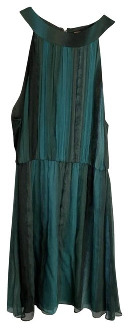 Item - Green Ombre Crinkled Silk Short Night Out Dress Size 8 (M)