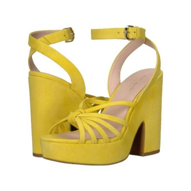 Item - Yellow Platform Sandals Heels Shoes