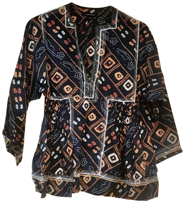 Isabel Marant Brown Yellow Gold Orange Blouse Size 6 (S) Isabel Marant Brown Yellow Gold Orange Blouse Size 6 (S) Image 1