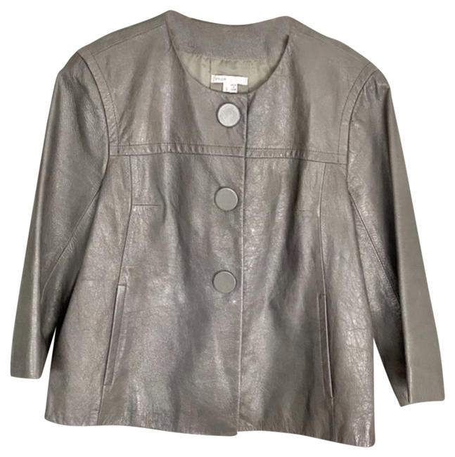 Item - Gray 3/4 Length Sleeves Jacket Size 6 (S)