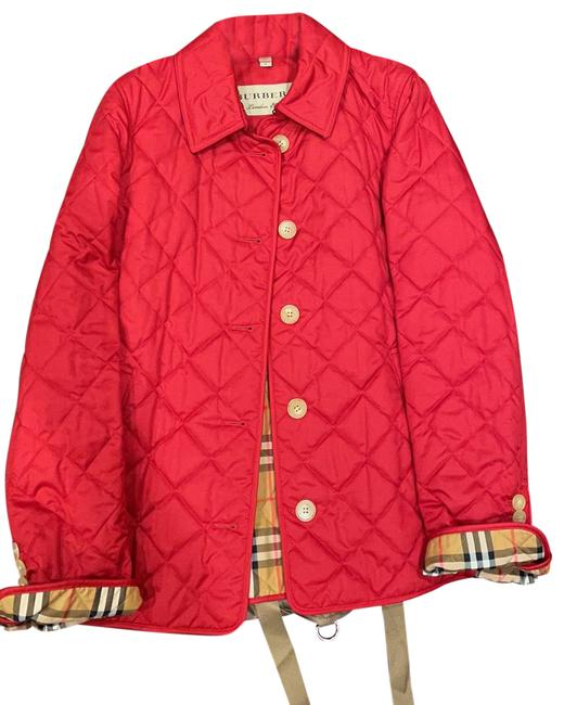 Item - Red Diamond Quilted Jacket Size 8 (M)