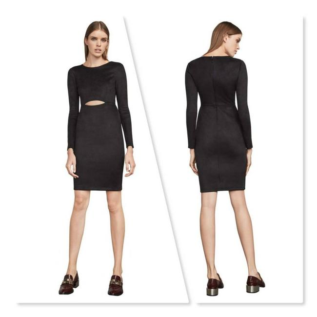 Item - Black Whitney Faux Suede Night Out Dress Size 8 (M)