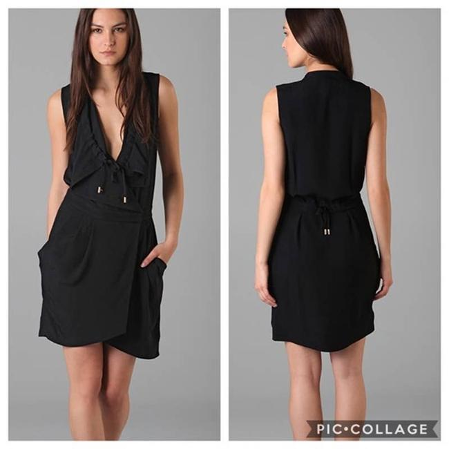Item - Black Flyma Wrap Short Casual Dress Size 6 (S)