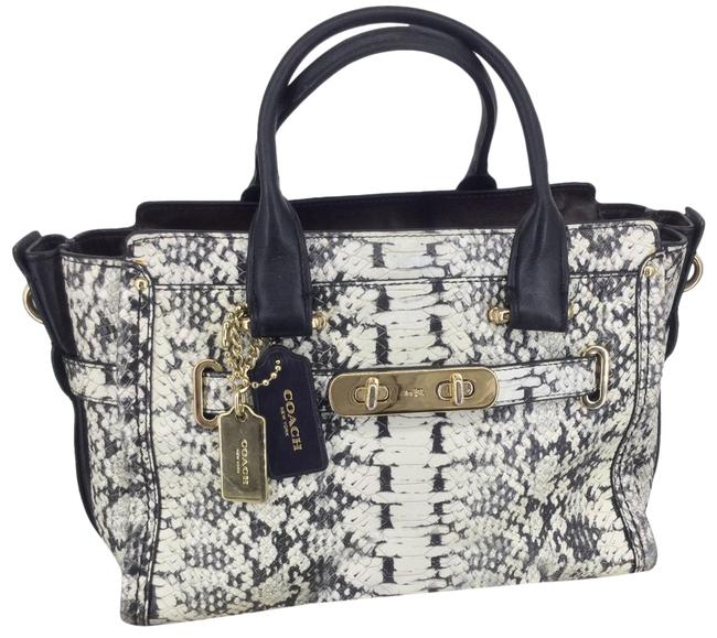 Item - Swagger 27 Exotic Embossed Leather #36499 Multicolor Python Satchel
