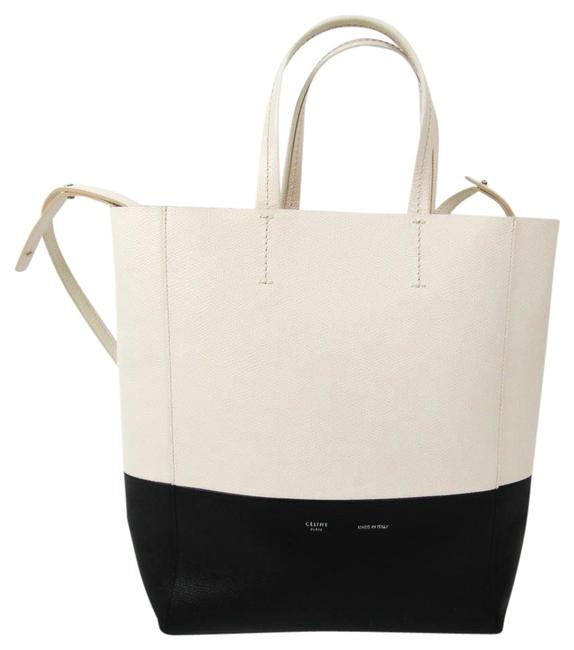 Item - Bag Cabas Small Vertical 176163 Women's Black / Off-white Leather Tote