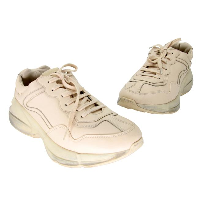 Item - Beige Dad Leather Rhyton Sneakers Size US 10 Regular (M, B)