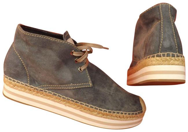 Item - Blue Suede Lace Up Logo Espadrilles Chukka Boots/Booties Size EU 39 (Approx. US 9) Regular (M, B)