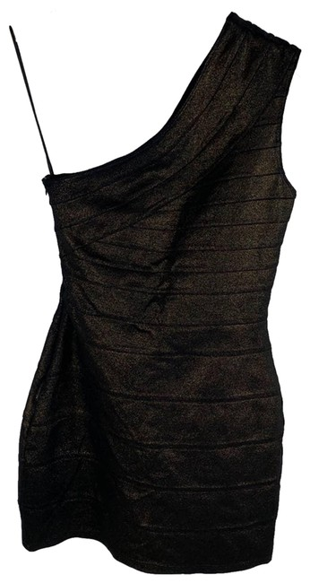 Item - Brown XS Bodycon One Shoulder Cocktail Dress Size 0 (XS)