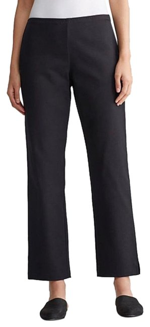 Item - Black Cropped Elastic Waist Pull On Pants Size 10 (M, 31)