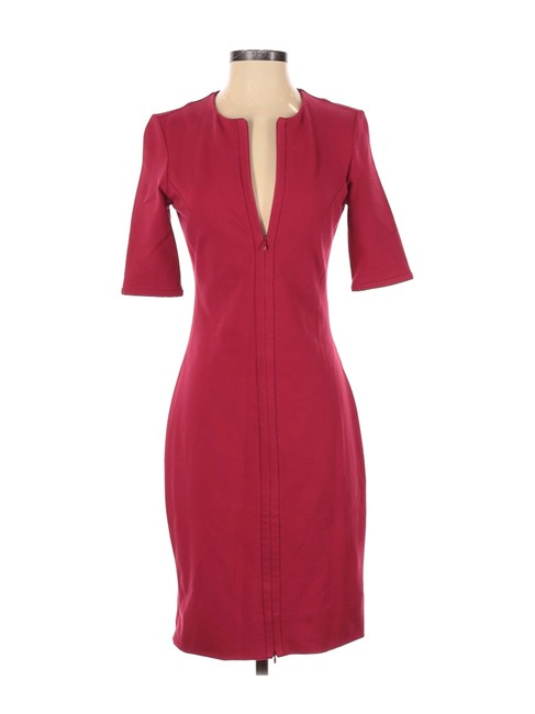 Item - Red Sheath Short Casual Dress Size 4 (S)