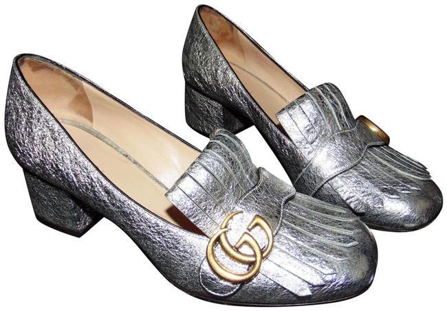 Item - Silver Marmont Gg Pumps Size EU 37.5 (Approx. US 7.5) Regular (M, B)