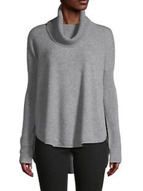 Item - XS Cashmere Cowlneck Cowl Neck Relaxed Fit Curved Hem Grey Sweater