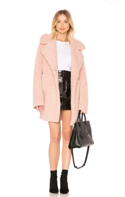 J.O.A. Dusty Pink Reversible Shearling In Coat Size 2 (XS) J.O.A. Dusty Pink Reversible Shearling In Coat Size 2 (XS) Image 1