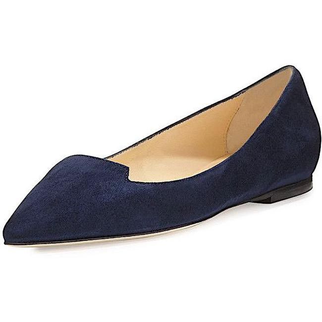 Item - Navy New Attila Suede Pointed-toe Flats Size EU 38 (Approx. US 8) Regular (M, B)
