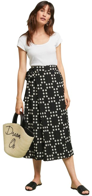 Item - Black New Eva Franco Dotted Palazzo Pants Size 6 (S, 28)
