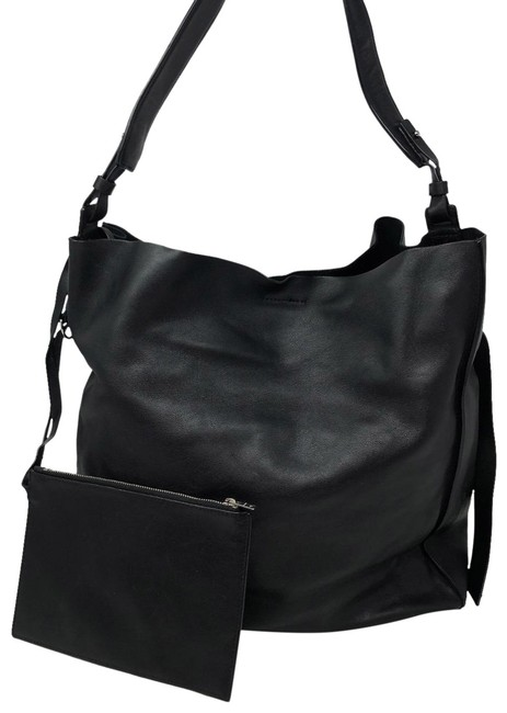 Item - Volitare North/South Large Black Leather Tote
