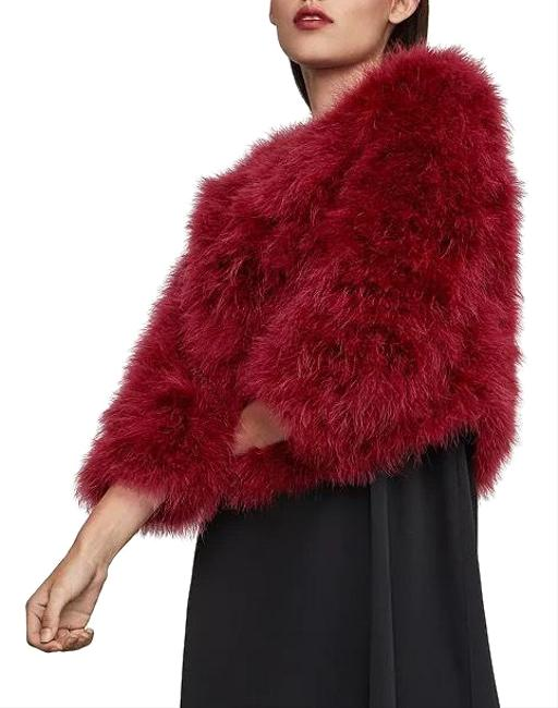 Item - Fire Red Ostrich Feather Jacket Coat Size 00 (XXS)