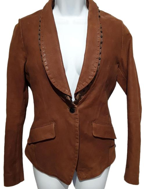 Item - Brown Goat Leather Jacket Size 6 (S)