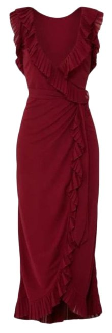 Item - Red Garnet Whitney Ruffle Mid-length Casual Maxi Dress Size 4 (S)
