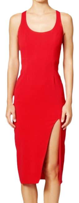 Item - Red Sheath Witherspoon Mid-length Formal Dress Size 8 (M, 29, 30)