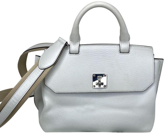 Item - Milla Convertible / Tote White Leather Backpack