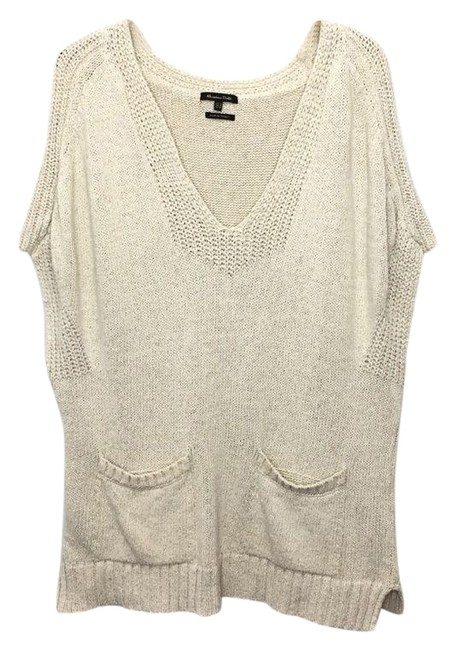 Item - Cream Tunic Pockets Medium Tan Sweater
