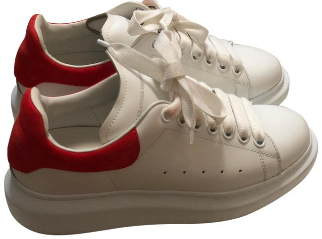 Item - White Women's Suede Oversized Sneakers Size EU 38.5 (Approx. US 8.5) Regular (M, B)