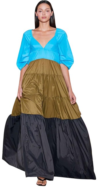 Item - Multicolored Runway Meadow Color Block Tiered Nwot Long Casual Maxi Dress Size 8 (M)