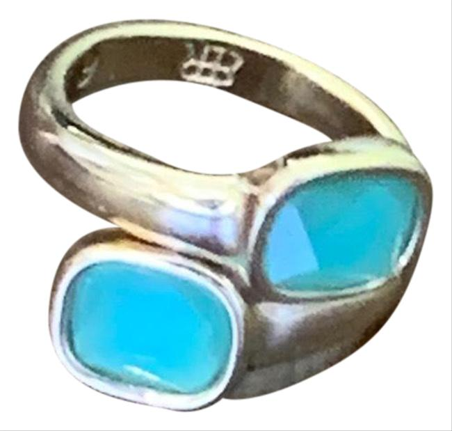 Item - Blue and Gold Twisted Size 6 Ring