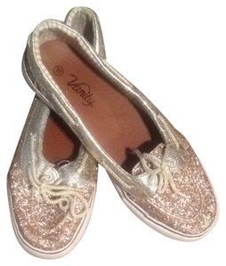 Vanity Sparkly Gold Flats