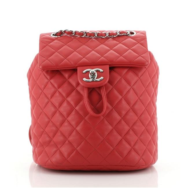 Item - Backpack Urban Spirit Quilted Lambskin Small Red Leather Cross Body Bag