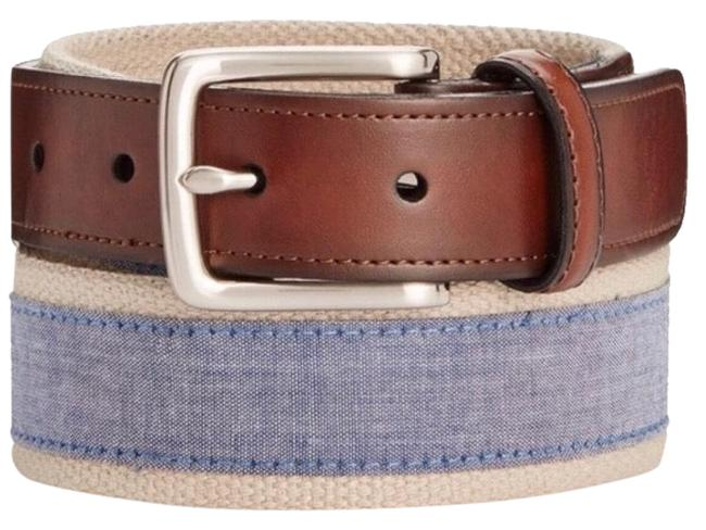 Item - Brown/ Blue Chambray Men's Casual Belt