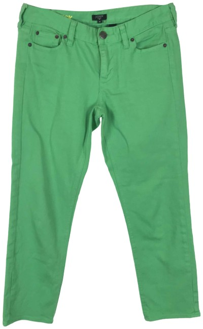 Item - Green Cropped Matchstick Skinny Jeans Size 28 (4, S)