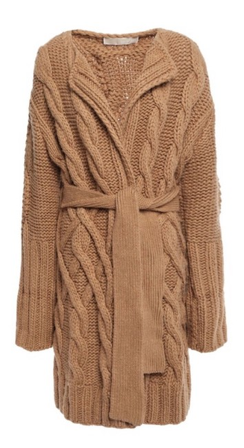 Item - Tan Camel Cable Knit Coat Size OS (one size)