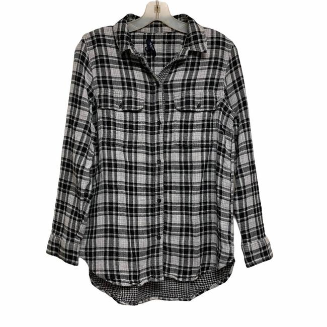 Item - Black Shirt Button-down Top Size 4 (S)