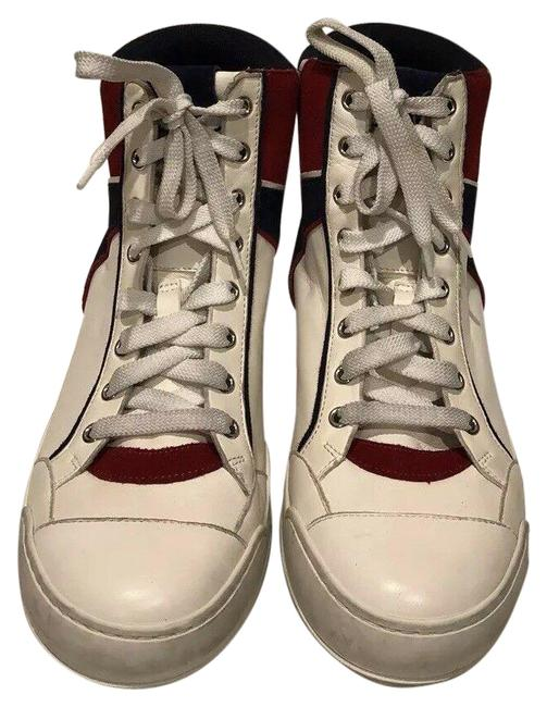 Item - White Paris Leather High Top Lace Up New Sneakers Size EU 40 (Approx. US 10) Regular (M, B)