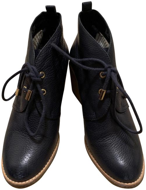 Item - Navy Leather Lined Rabbit No Wedges Size US 8 Regular (M, B)