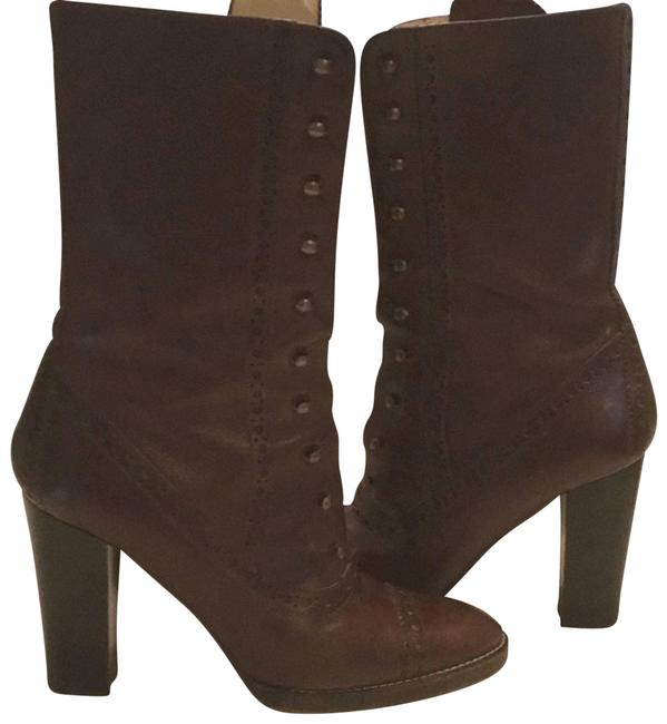 Item - Brown Leather Wingtip Boots/Booties Size US 8.5 Regular (M, B)