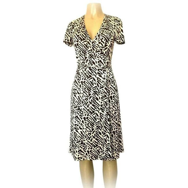 Item - Brown Jenny Wrap Mid-length Short Casual Dress Size 4 (S)