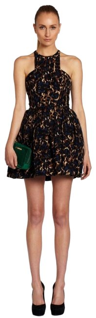 Item - Blue Counter Attack Printed Cocktail Dress Size 2 (XS)