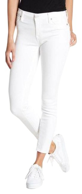 Item - White Light Wash Natalie Mid Rise Ankle Skinny Jeans Size 26 (2, XS)