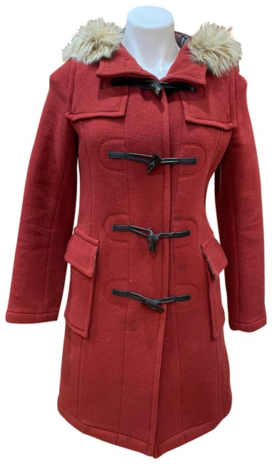 Item - Red Hooded Coat Size 2 (XS)