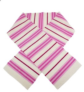 Burberry Burberry White & Pink Stripes Lambswool Scarf (38863)