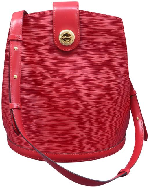 Louis Vuitton Cluny Red Epi Leather Shoulder Bag Louis Vuitton Cluny Red Epi Leather Shoulder Bag Image 1