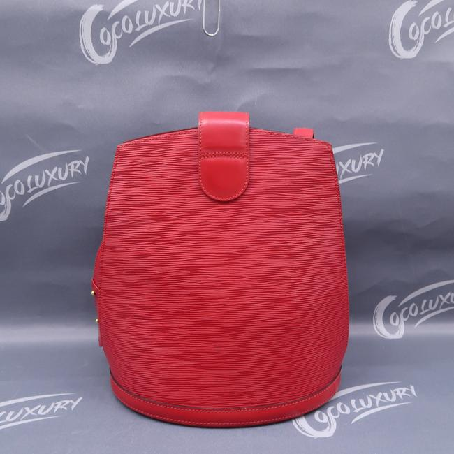 Louis Vuitton Cluny Red Epi Leather Shoulder Bag Louis Vuitton Cluny Red Epi Leather Shoulder Bag Image 2